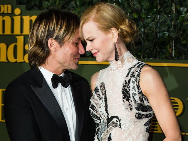 Keith Urban and Nicole Kidman at the 2015 Evening Standard Theatre Awards