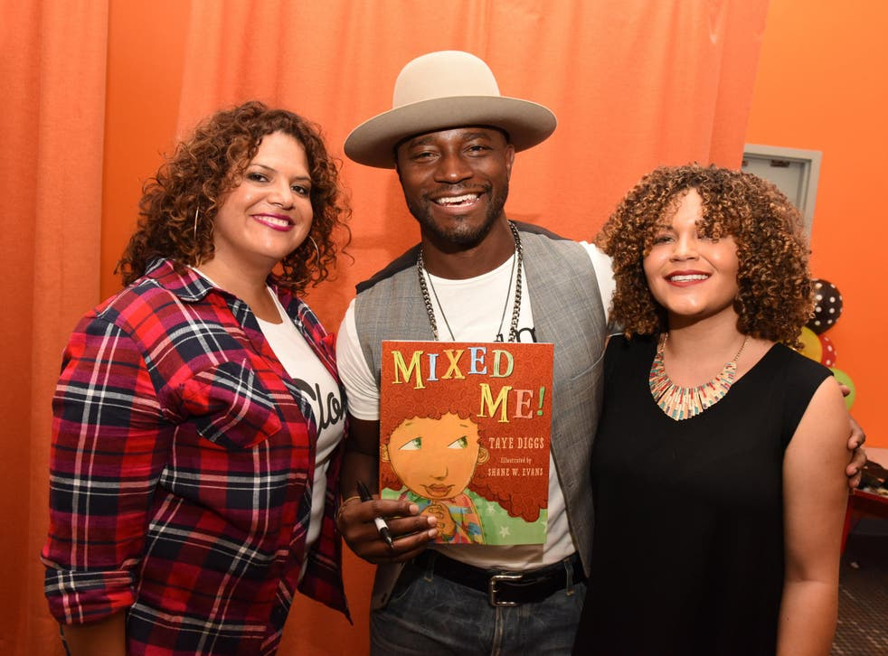 Fashion designer Sonia Smith-Kang, actor Taye Diggs and Kristen Marston of Mixed-ology attend the Mixed Me Book Launch + Multiculti Mixer