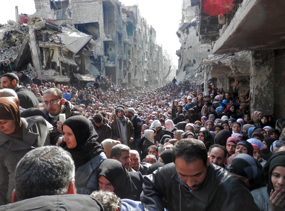This 2014 image of a Damascus refugee camp shows the kind of poverty and overcrowding that some blame on the drought