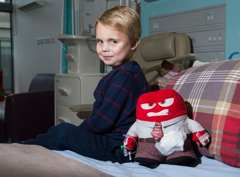 6-year-old Ralph Frost who was admitted to Great Ormond Street Hospital