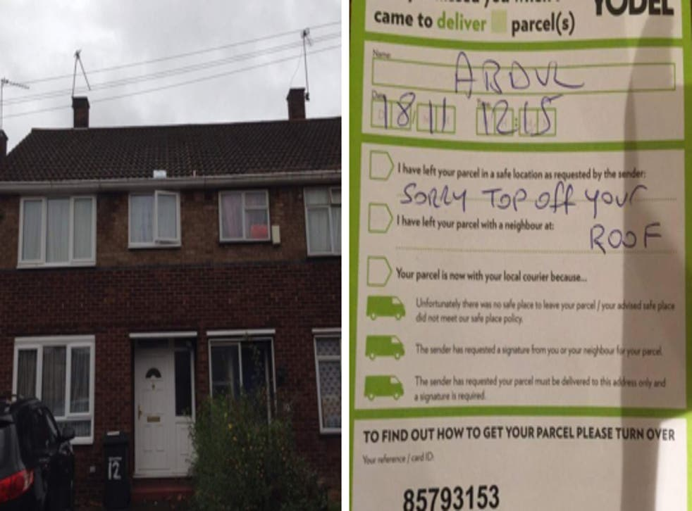 Ajmal Aziz just wanted his parcel. It ended up on the roof.