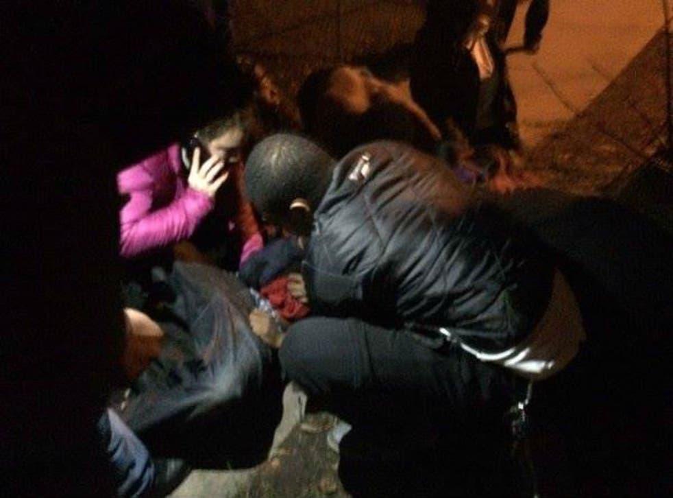 Five people were taken to hospital after gunmen opened fire
