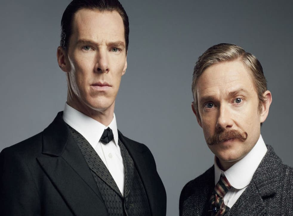 Benedict Cumberbatch and Martin Freeman in Sherlock Christmas special