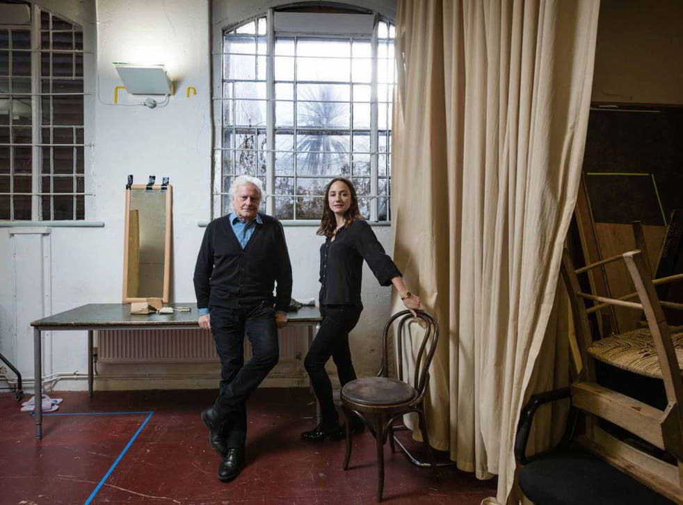 Intense: Sir Richard Eyre and Lydia Leonard in the rehearsal room for 'Little Eyolf'