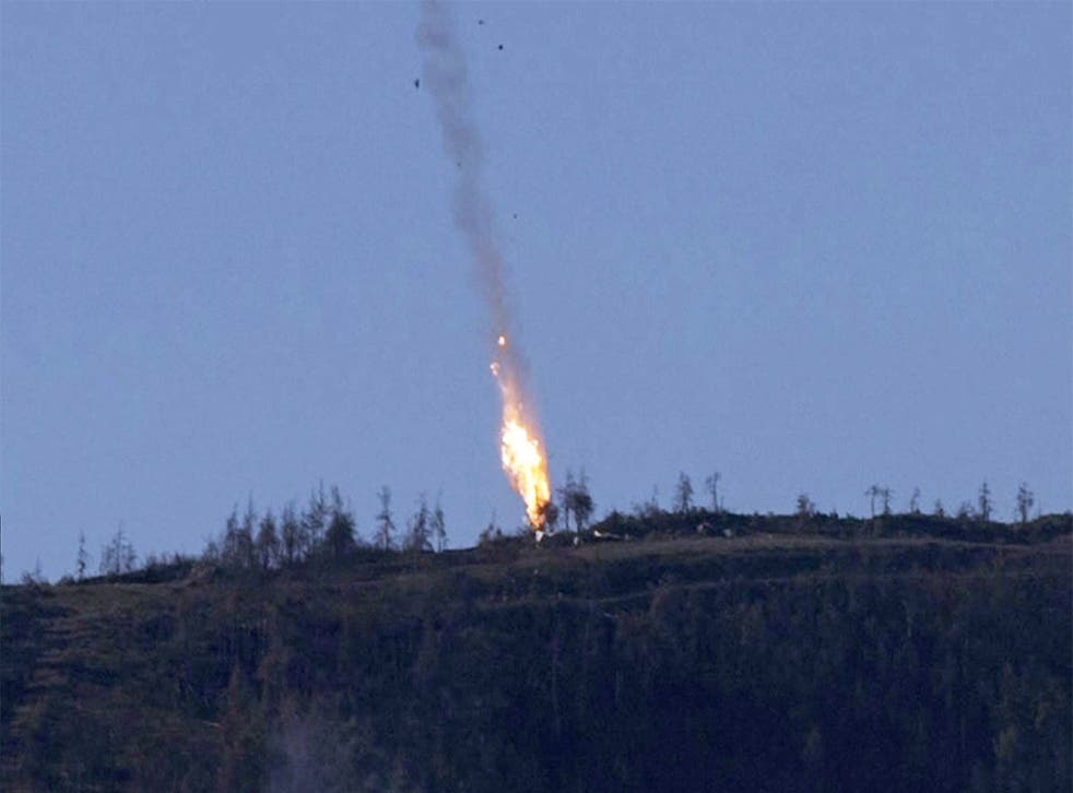 The Russian Su-24 jet was downed by Turkish forces