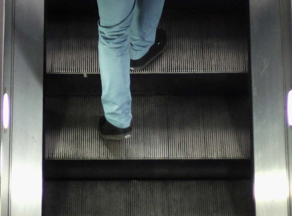 Staff at Holborn Tube station have been trialling 'standing only' on the station's escalators