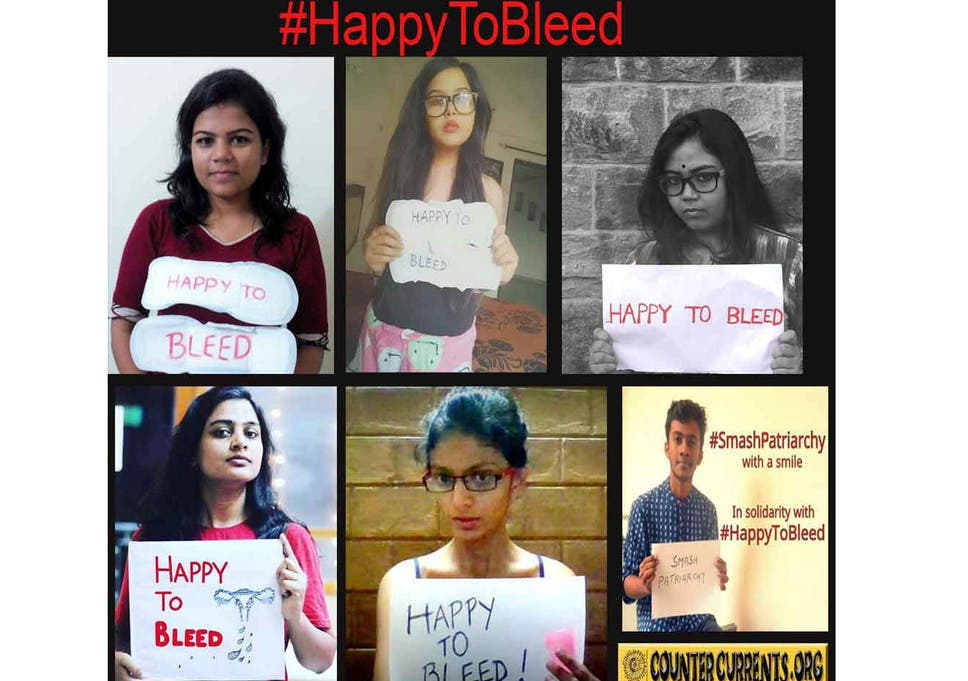 Indian women launch 'Happy to bleed' campaign to protest against