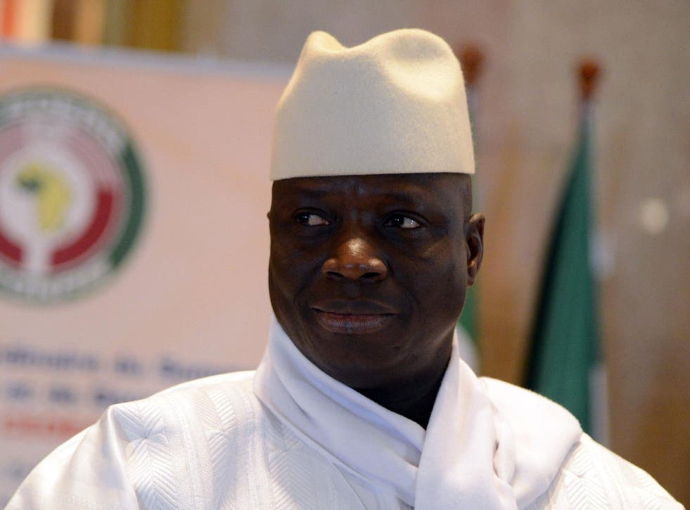 The elction results threaten to end Mr Jammeh's 22 years of autocratic rule