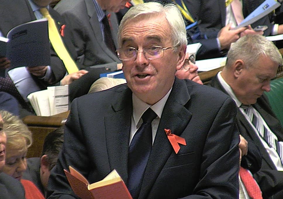 e4849630c845d Shadow chancellor John McDonnell reads a passage from the Little Red Book
