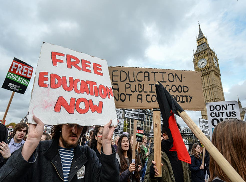 The rising cost of higher education in England has seen many protests take place across the country in recent months