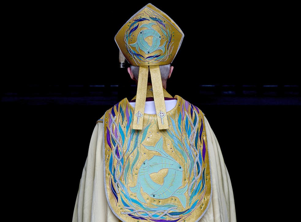 Bishop Broadbent said mitres, robes, croziers, and staffs, could help Bishops look 'imposing' in cathedrals