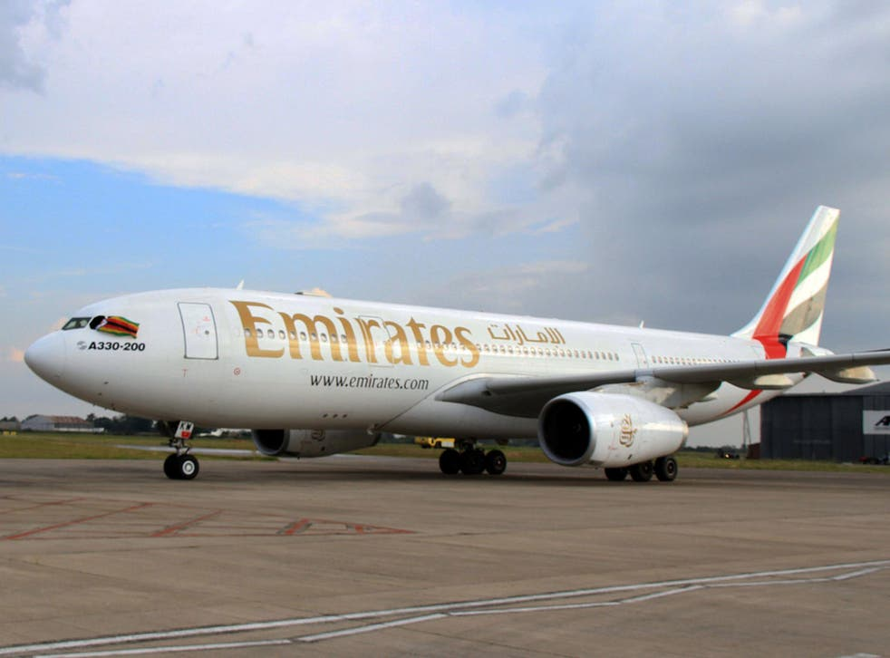 An A330-200 Airbus plane of Emirates airline