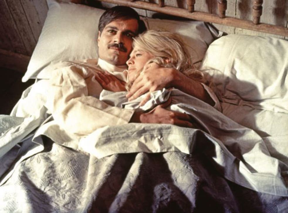 Omar Sharif and Julie Christie in David Lean's classic 'Dr Zhivago'