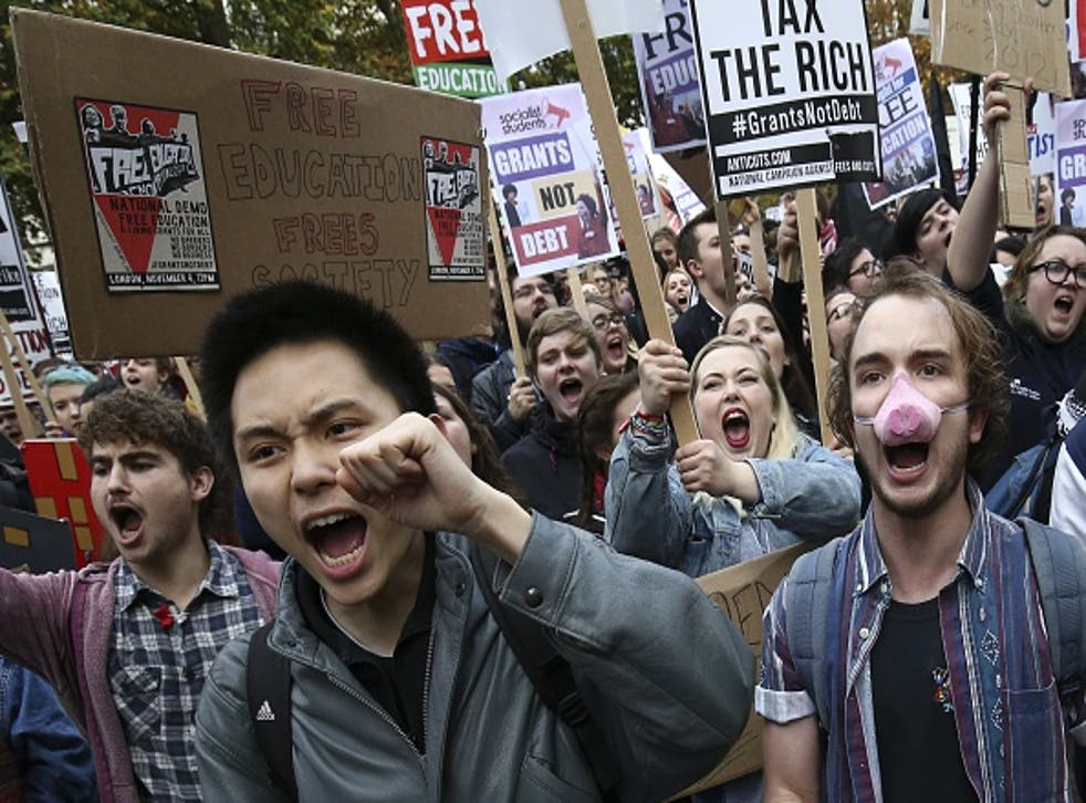 The NCAFC also organised this demonstration against education cuts which took place on 4 November through Central London
