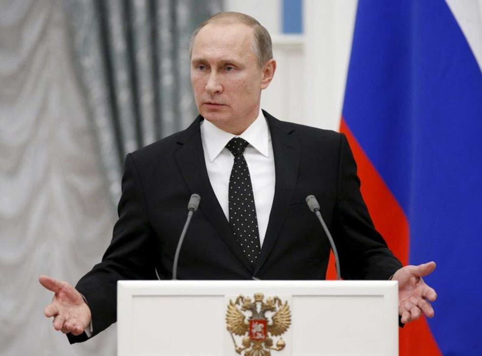 Vladimir Putin has said he is waiting for an apology from the Turkish leader