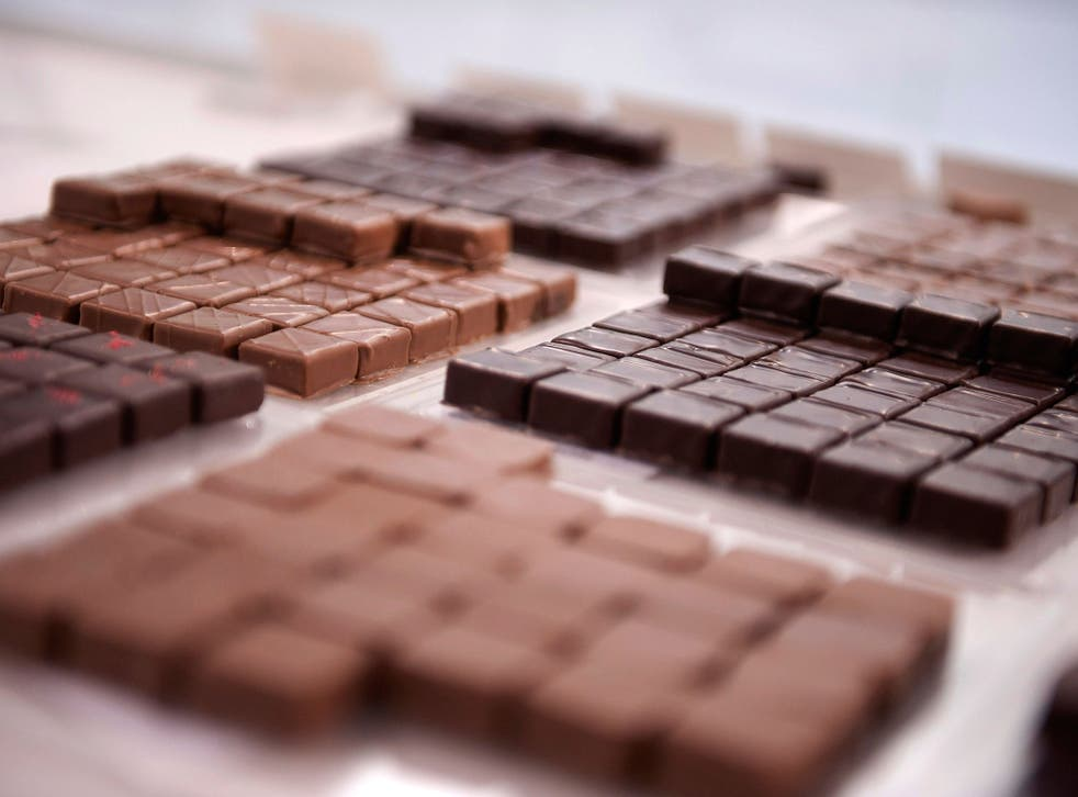 The handmade chocolates apparently produce a calming effect on the body