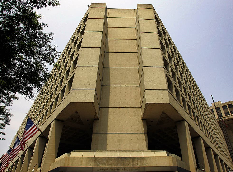 The J. Edgar Hoover FBI building in Washington, DC
