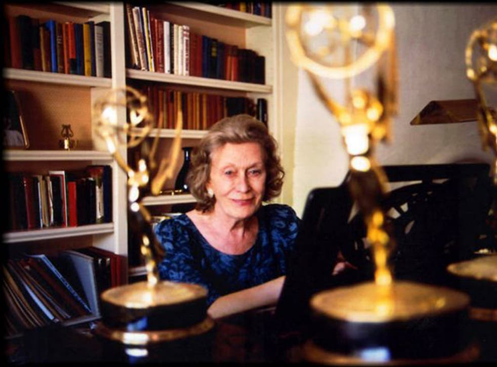 Angela Morley at the piano