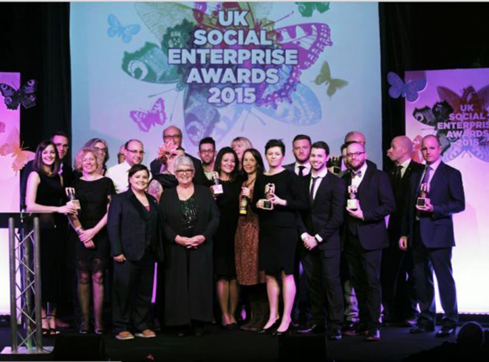 Award-winners celebrate at the ceremony in London last week