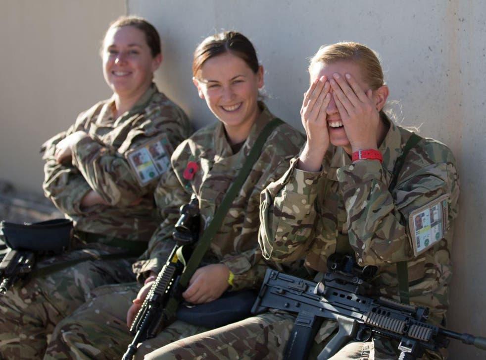 British female troops