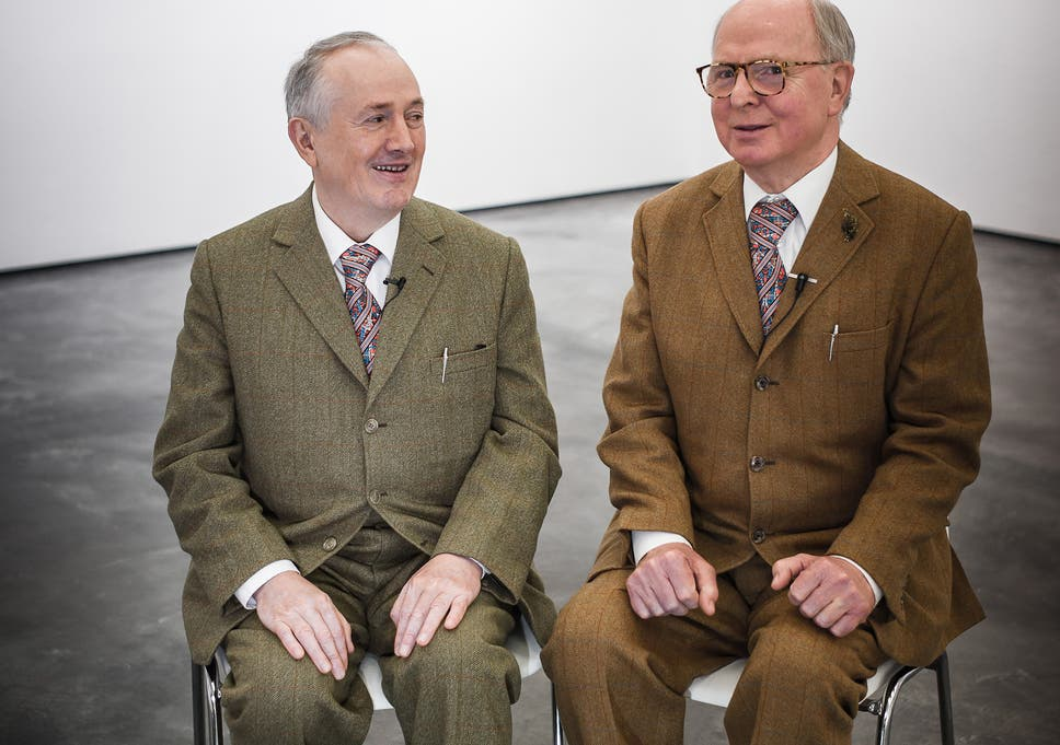 Gilbert and george artists attempt to shock with a set of crude double trouble gilbert proesch left and george passmore have worked together for 40 fandeluxe Image collections