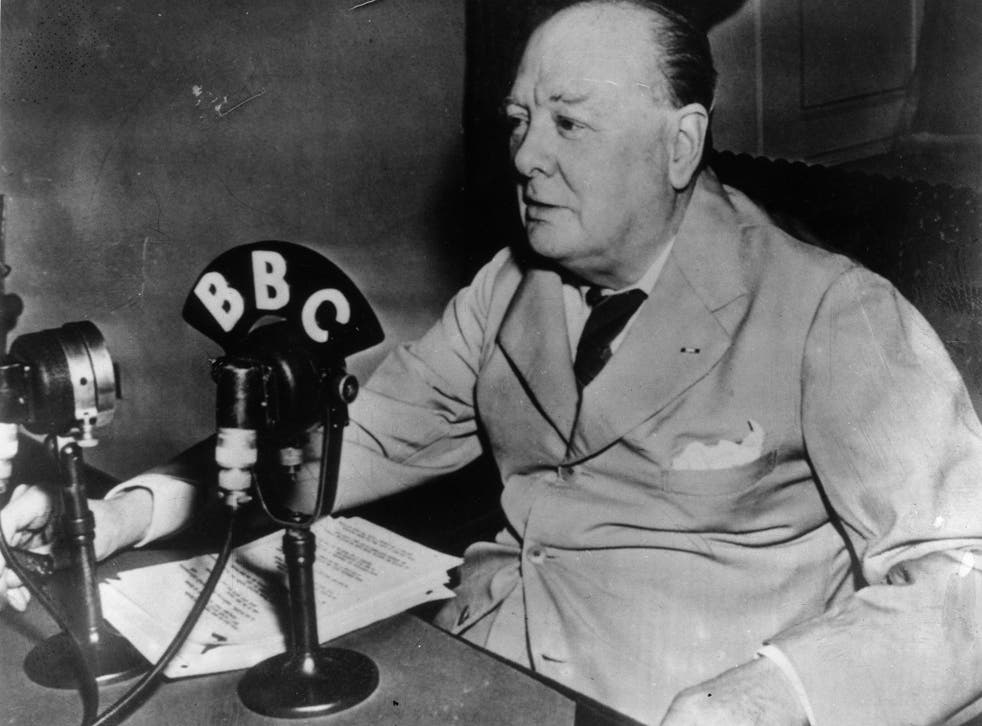 Winston Churchill makes a radio broadcast to the British public from the White House in 1943
