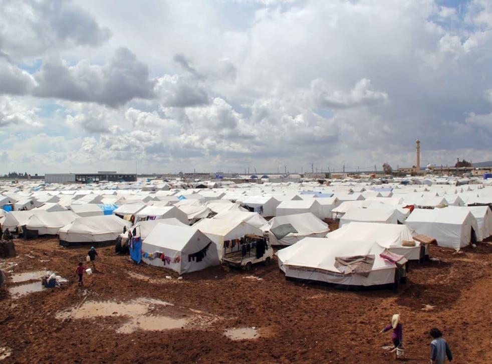 A refugee camp near the Syrian-Turkish border