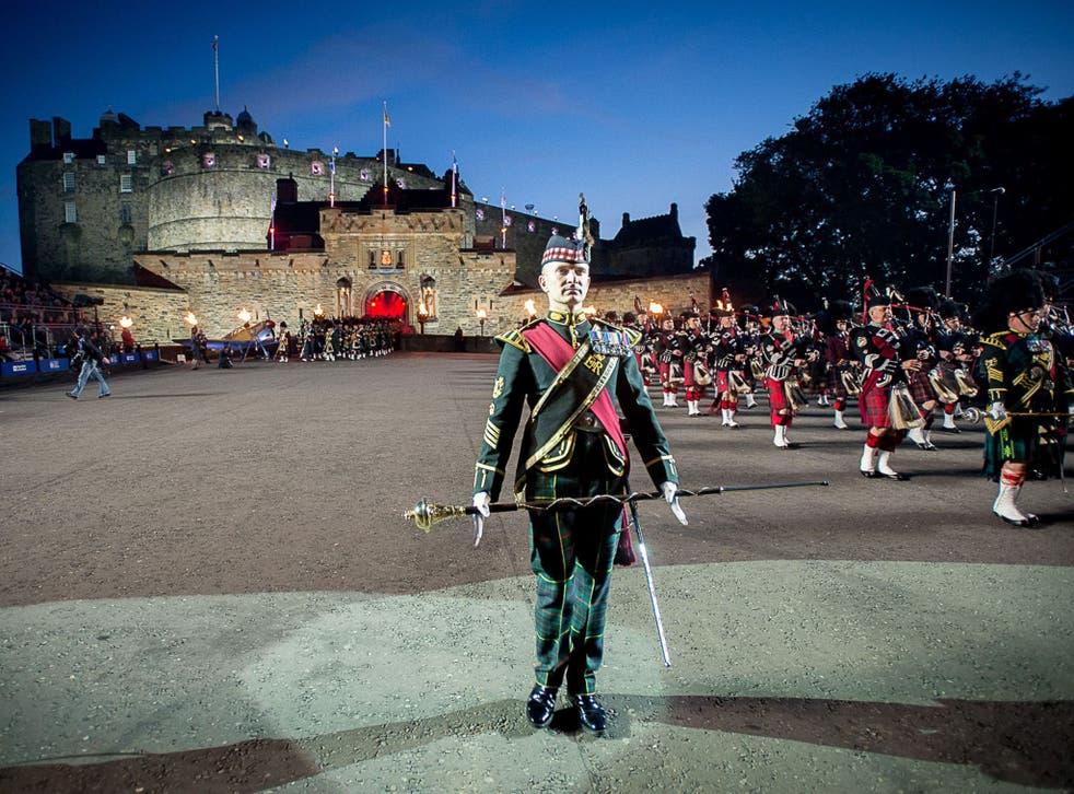 Royal Edinburgh Military Tattoo dress rehearsal, Edinburgh Castle, Scotland