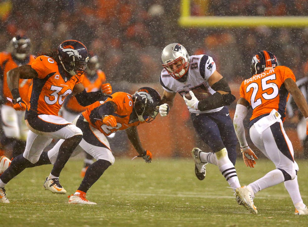 Rob Gronkowski suffered a knee injury in the New England Patriot's loss to the Denver Broncos