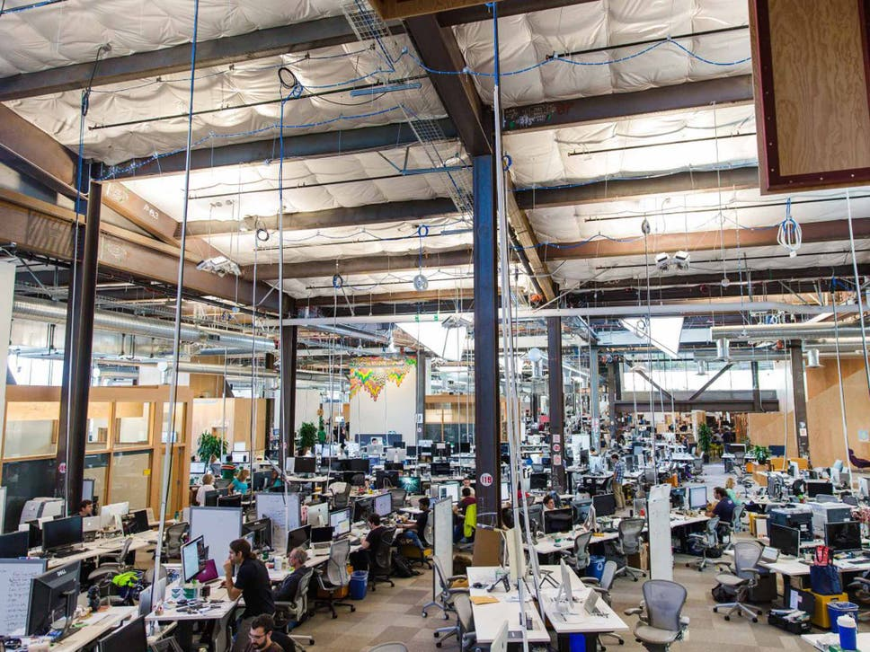 facebook s new headquarters where open plan is king and
