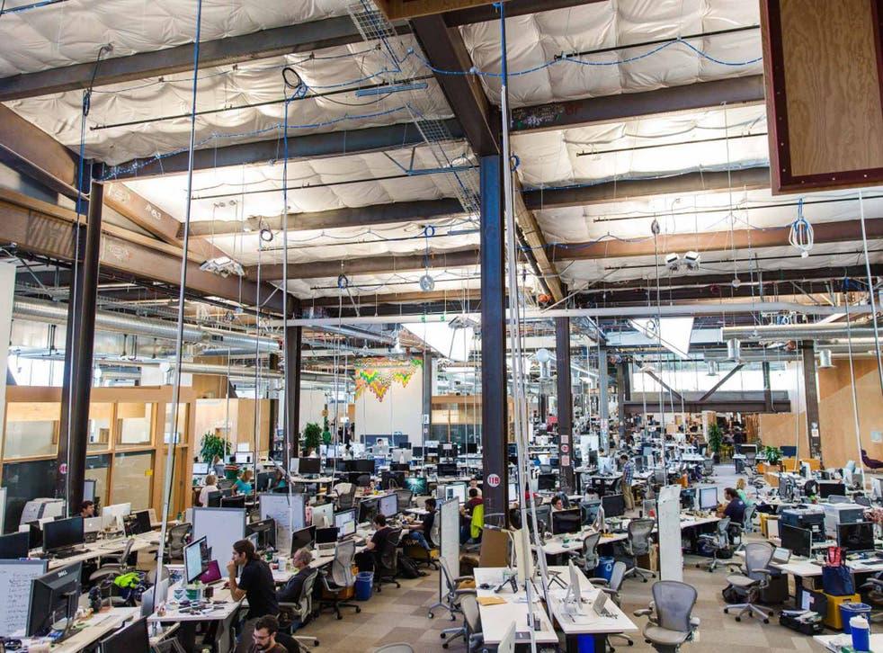 No obstacles: Facebook's headquarters in Menlo Park, California