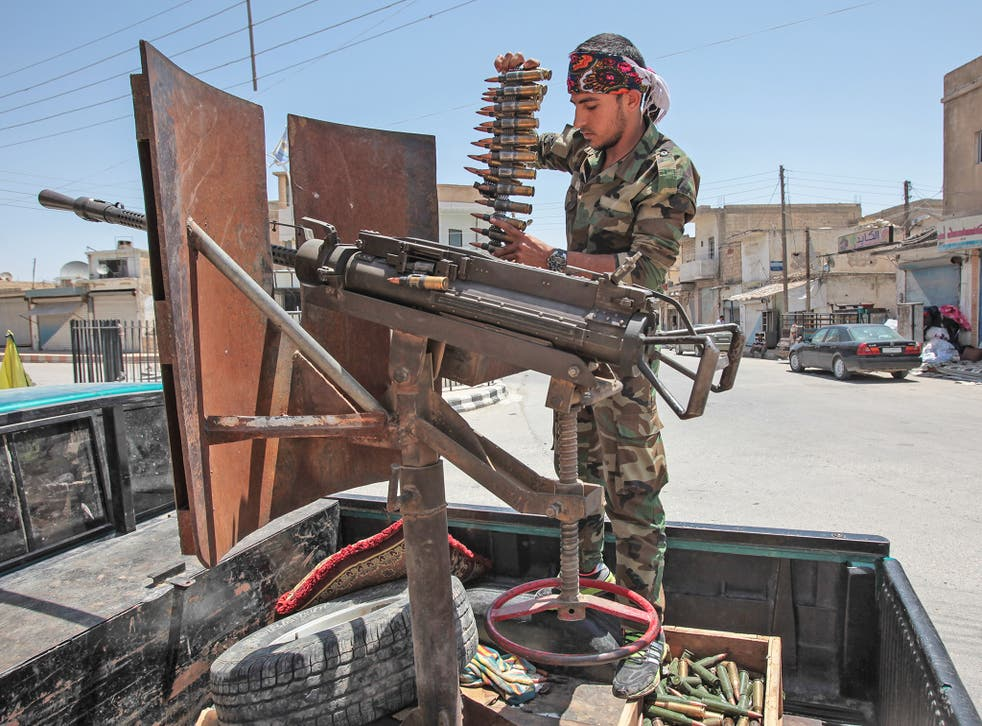 The Americans consider the YPG, pictured, their most combative and valuable ally against Isis