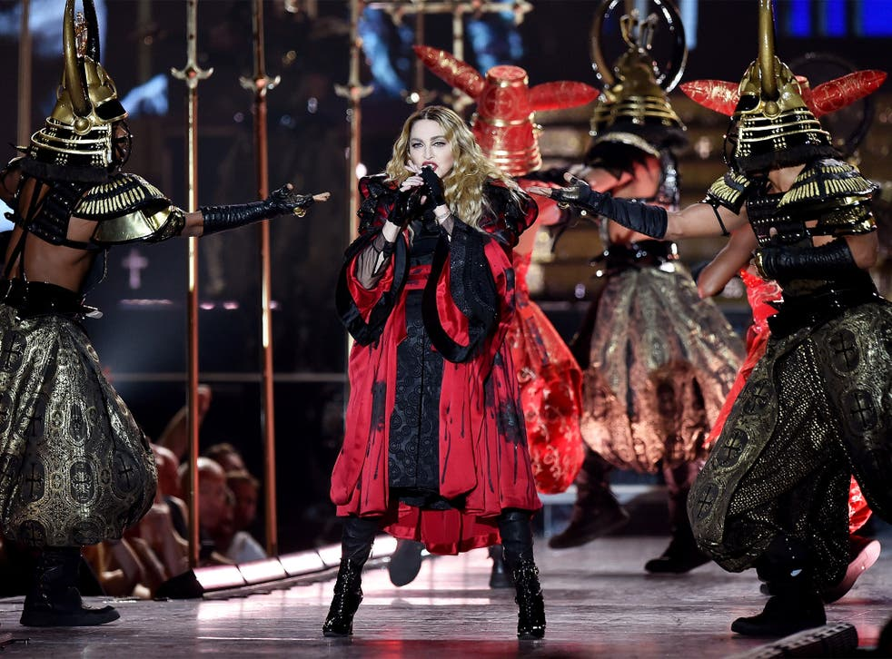 Madonna performs at the O2 as part of her 'Rebel Heart' world tour