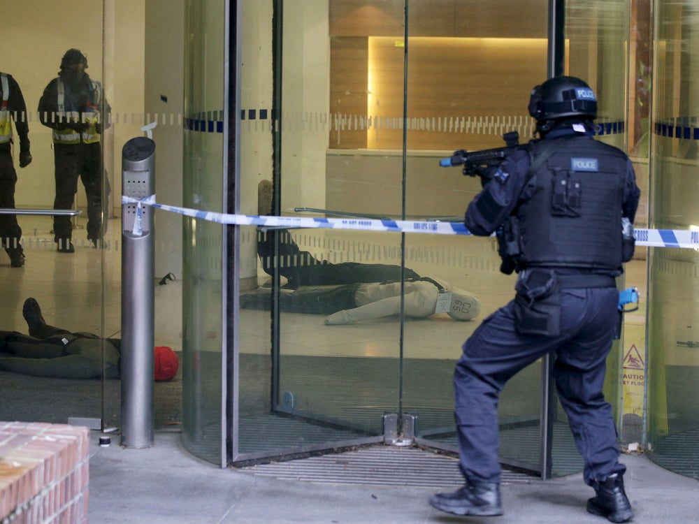 Terror drill in London