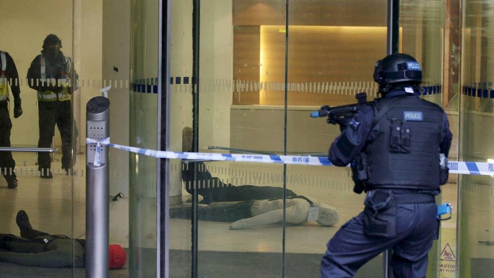 Terror drill in London