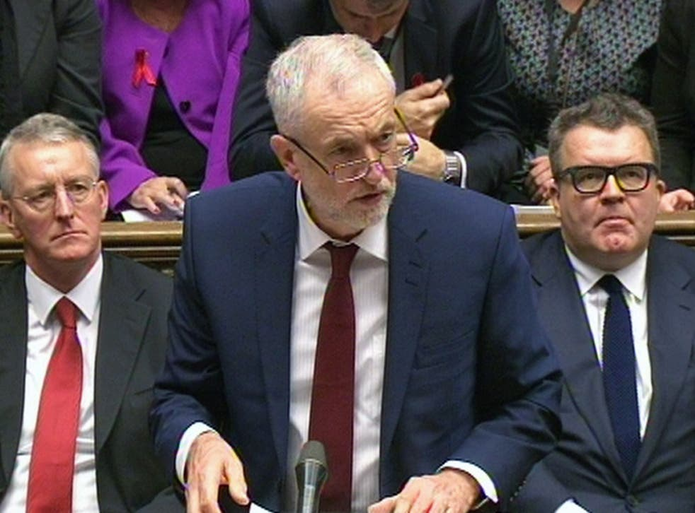 Jeremy Corbyn speaks during the debate in the House of Commons on extending the bombing campaign against Islamic State to Syria