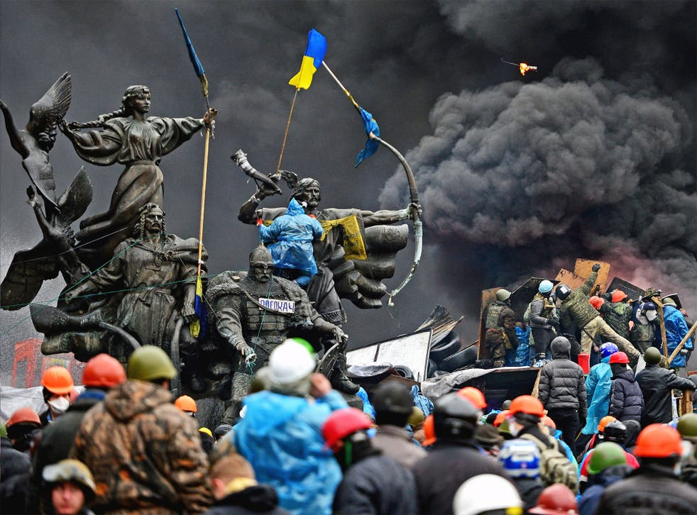 Protests in the Maidan in Kiev in February 2014 led to the ousting of President Yanukovych