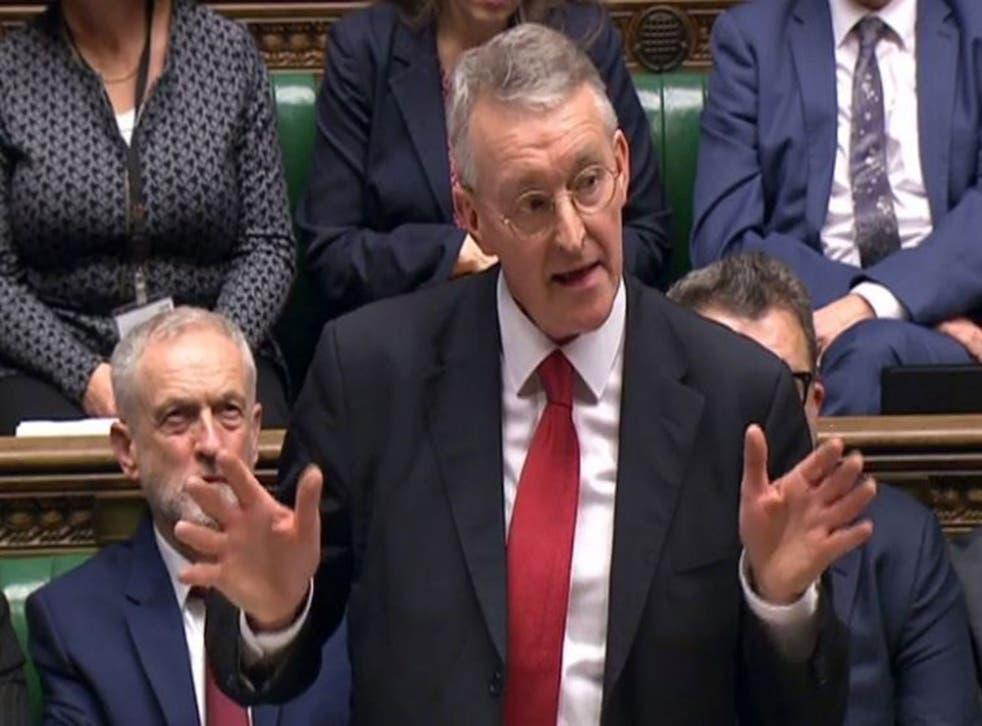 Hilary Benn closes the Syria debate for Labour