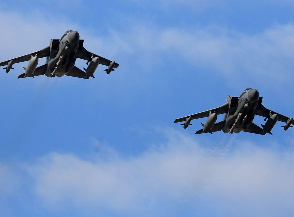 RAF Tornados return to RAF Akrotiri after a sortie on 3 December