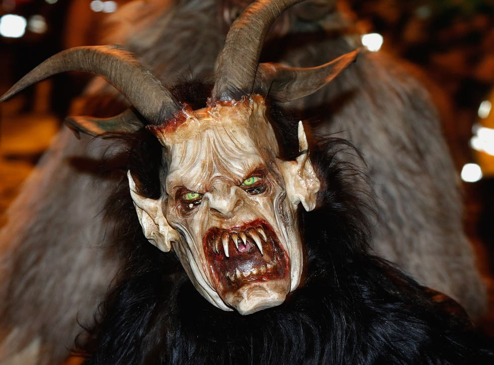 No escape: the Krampus will chase children down with his 'ruten', a small bundle of sticks, ideal for whipping