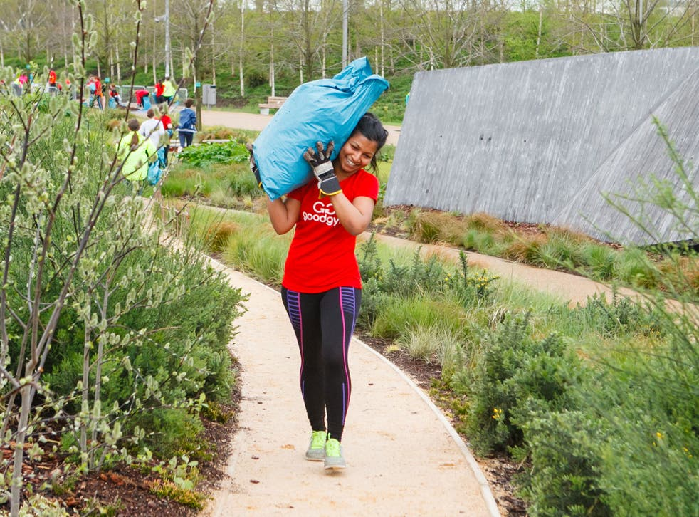 Fit for something: members of the GoodGym at work on their community projects