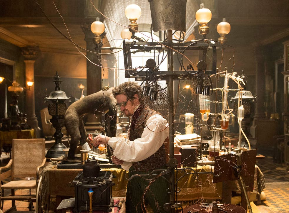 James McAvoy as Victor Frankenstein in a kitsch retelling of the story