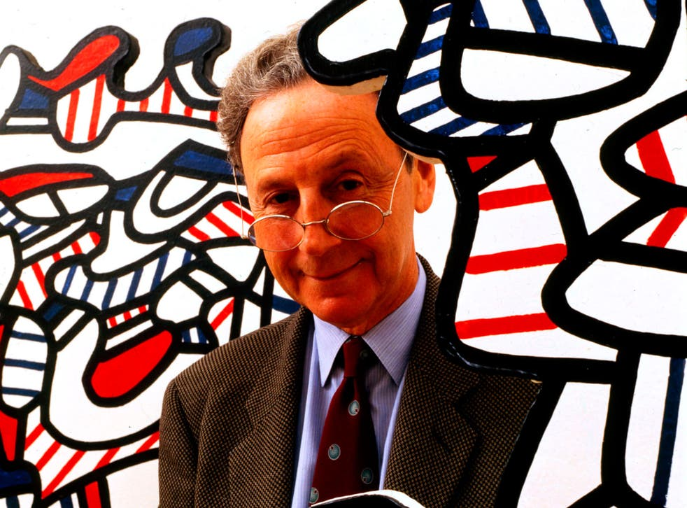 Waddington with works by Jean Dubuffet: he was admired, said Nicholas Serota, 'for his loyalty to artists rather than fashion'