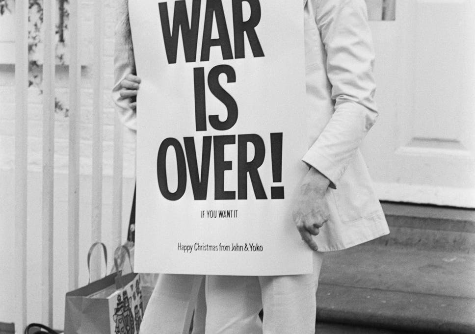 happy xmas war is over an unbeatable combination of sanctimonious whiny - John Lennon Christmas Songs