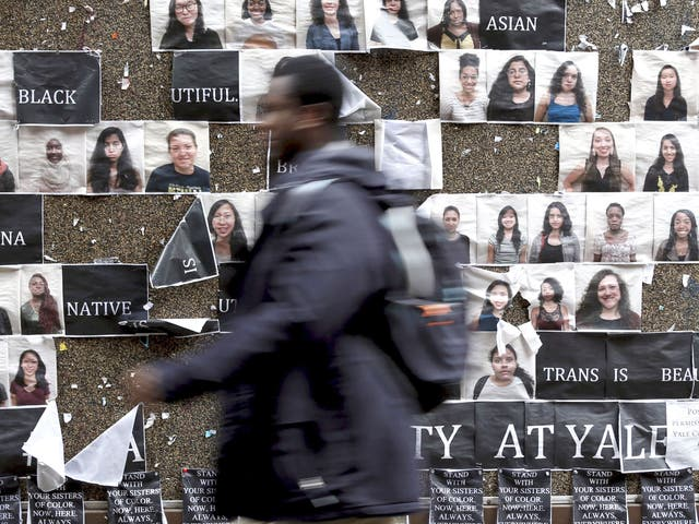 Yale University, where last month more than 1,000 students, professors and staff gathered to discuss race and diversity amid a wave of demonstrations at US colleges over the treatment of minority students