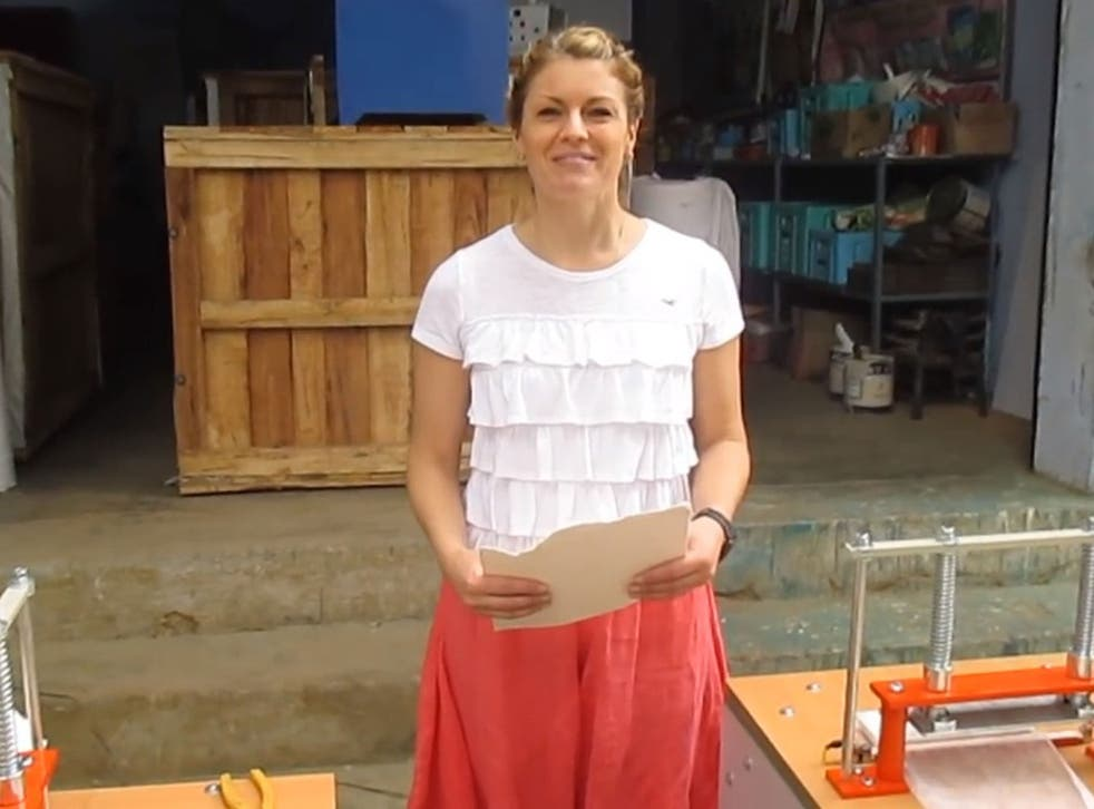 The yoga teacher has pursued the sanitary pad project through the charity she set up last year, Loving Humanity