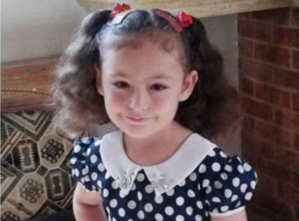 Raghat poses for a picture a few hours before she was killed in a Russian airstrike on her grandparents house in the central Syrian town of Habeet