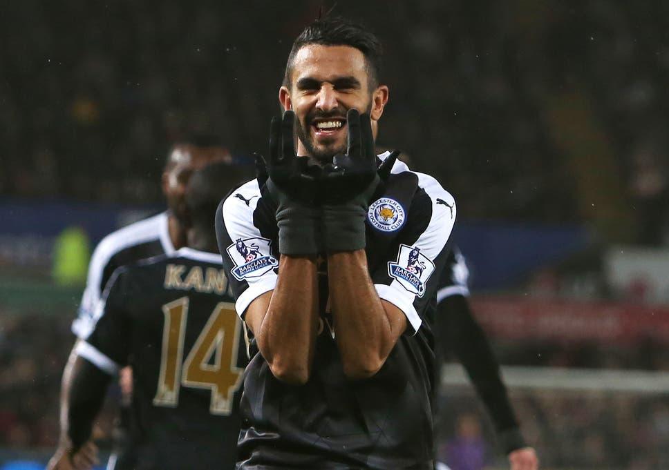 the latest 582eb b3bae Swansea 0 Leicester City 3 match report: Riyad Mahrez hat ...