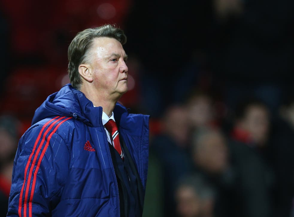 Louis van Gaal is booed by Manchester United supporters