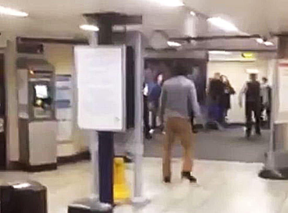 Witnesses said 'everybody ran away' as a man wielding a knife started attacking Tube passengers